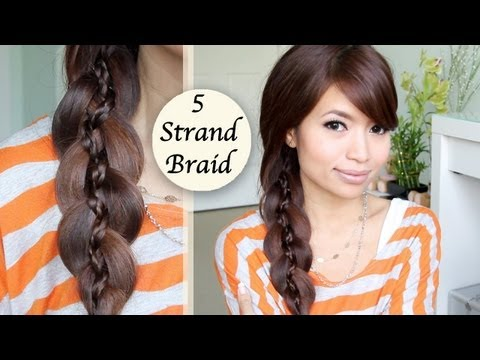 Unique 5 Strand Braid Hair Tutorial