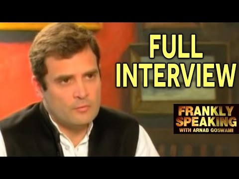 Frankly Speaking With Rahul Gandhi - Full Interview | Arnab Goswami Exclusive Interview
