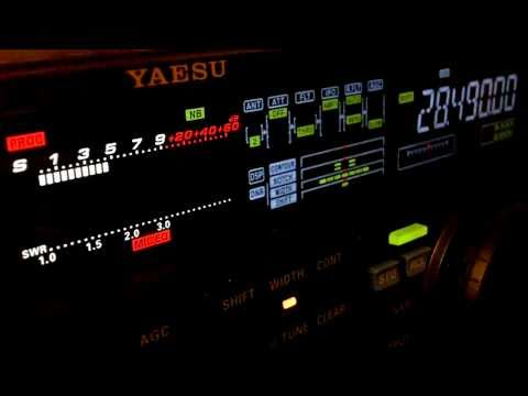 Ham Radio DX QSO TG9AHM Yaesu FT-950 10 Meters SSB