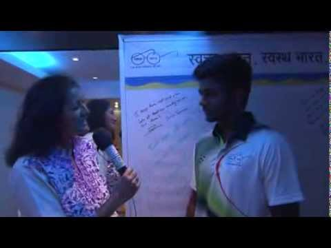 BPCL's Sanju Samson's interview after taking the pledge for #Swachhbharat