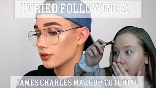 I TRIED FOLLOWING A JAMES CHARLES MAKEUP TUTORIAL | ItsFaithMarieHere
