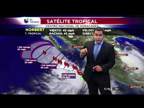 El tiempo, 02/09/2014, tormentas tropicales Dolly y Norbert