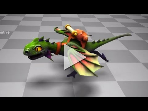 Silly Dragon DOTA2 Courier Preview