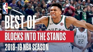 NBA's Best Blocks Into The Stands | 2018-19 NBA Season | #NBABlockWeek