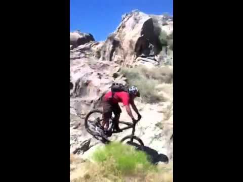 Mountain biking Apple Valley CA Sycamore Rocks