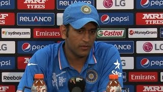 2015 WC IND vs AUS: Dhoni on losing semi-final vs Australia