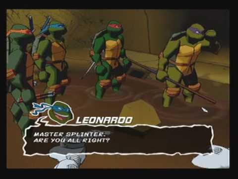 TMNT Teenage Mutant Ninja Turtles PS2 Playsation 2 Konami Gameplay