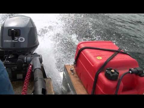 Yamaha 20 HP  4 stroke Silver Slipper takes off!