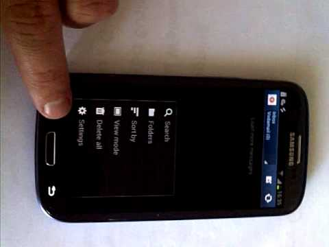 Samsung Galaxy S3 Multiple E-mail accounts SA