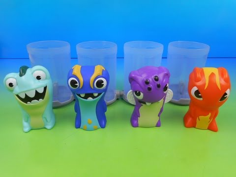 2015 SLUGTERRA SET OF 4 BURGER KING KID'S MEAL TOY'S VIDEO REVIEW