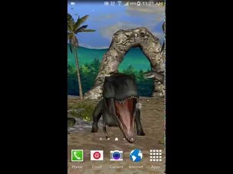 T-Rex King Dinosaur 3D Live Wallpaper