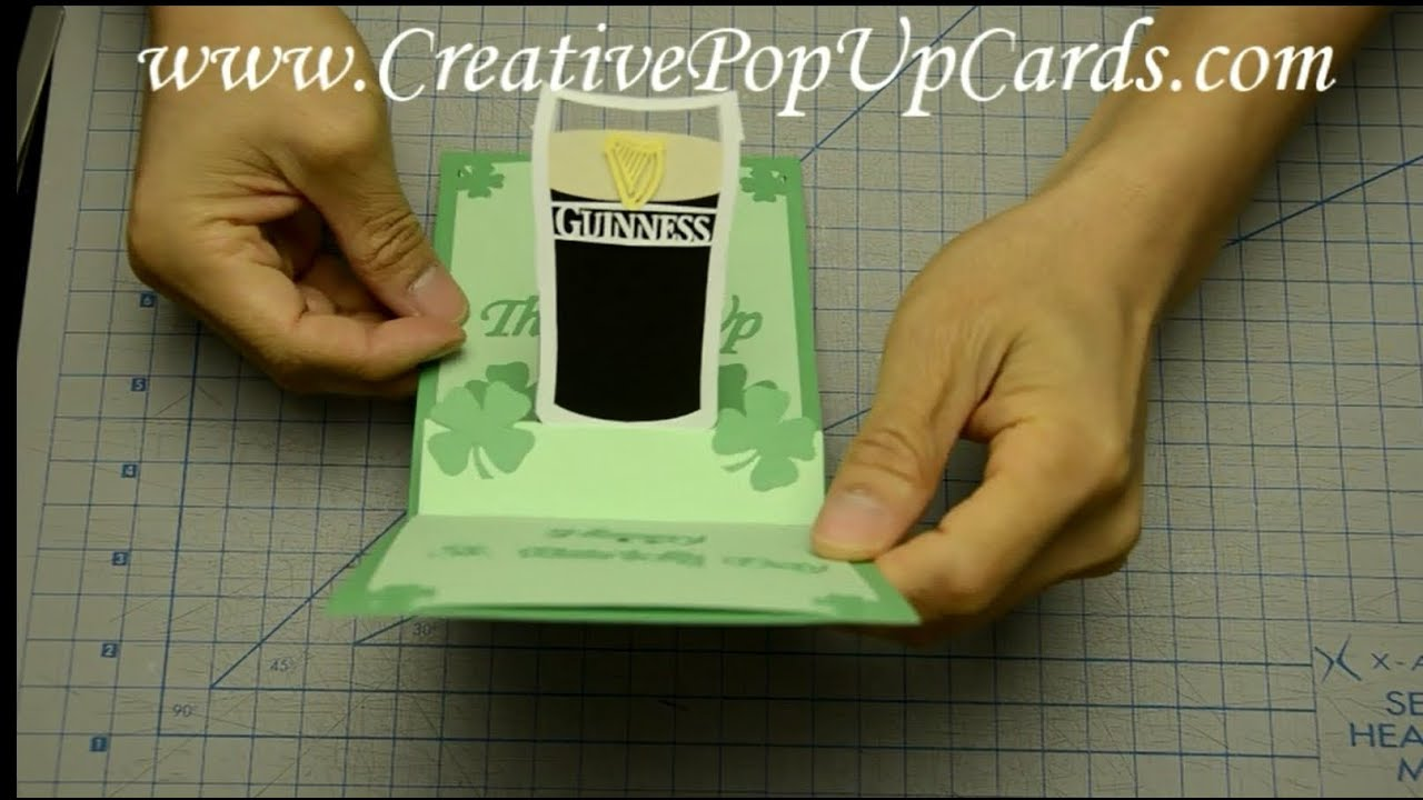 St Patrick39s Day Pop Up Card Guinness Glass Tutorial YouTube