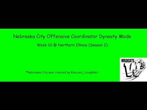 Nebraska City OC Dynasty #27: Week 10 @ Northern Illinois (Season 2)
