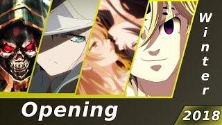 Top 25 Anime Openings Winter 2018 (10 Group Rank)