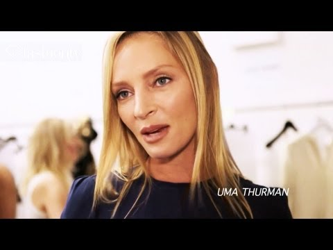 Uma Thurman, Naomi Watts, and Chloe Moretz at Calvin Klein Spring 2012, NYFW | FashionTV - FTV