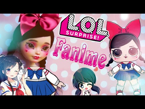 LOL DOLL ooak lol surprise Fanime 💟 repaint Ever After High custom Japanese schoolgirl