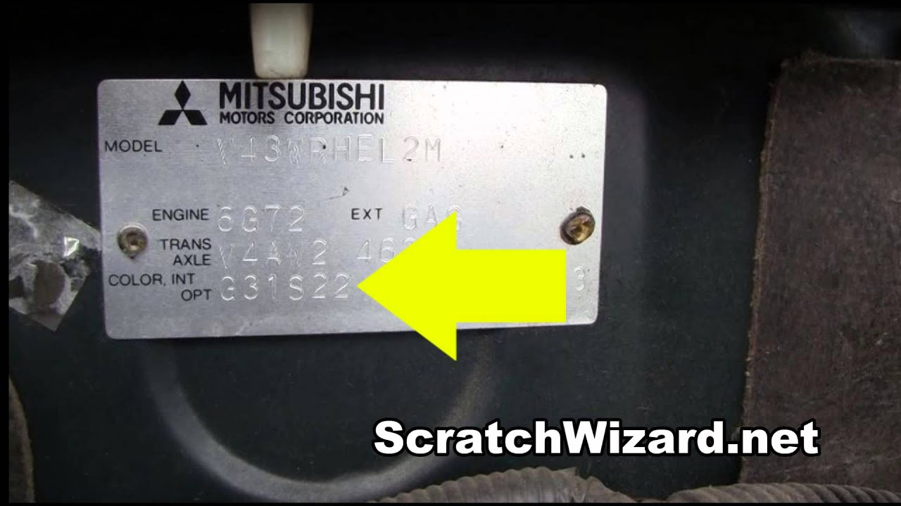 Mitsubishi Radio Code >> How to find your Mitsubishi paint code. - YouTube