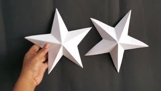 HOW TO MAKE 3D STAR EASILY WITHIN 2 MINUTES/DIY CHRISTMAS CRAFTS
