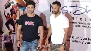 MS Dhoni & Sushant Singh Rajput Visit Goregaon PVR for Movie Review