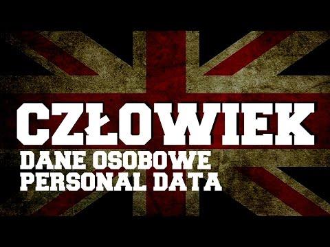 Człowiek Dane Osobowe - Personal Data Nauka Słów Z Języka Angielskiego