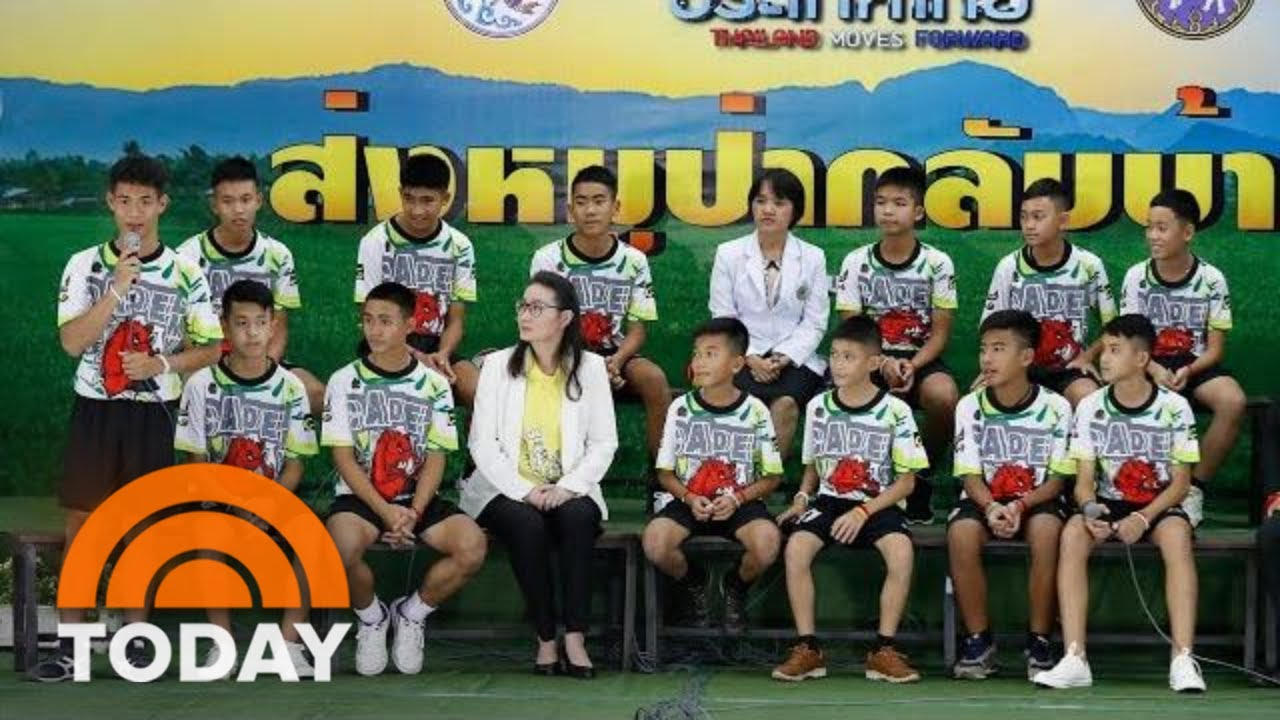 Thai Soccer Players, Coach Speak At News Conference For 1st Time Since Rescue   TODAY