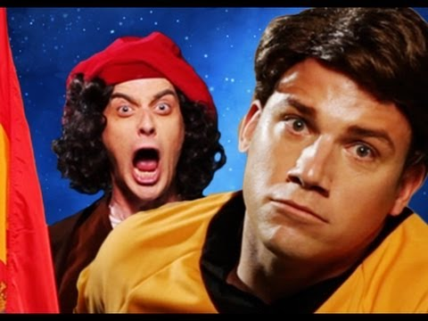 Columbus vs Captain Kirk.  Epic Rap Battles of History #14 Music Videos