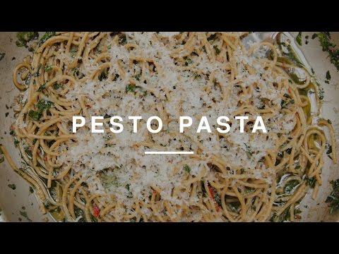 Kale Pesto Pasta w Laura Whitmore | Gizzi Erksine | Wild Dish