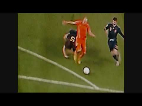 ROBBEN TACKLED IN WORLD CUP FINAL 2010 Netherlands versus Spain