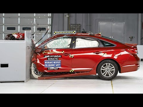 2015 Hyundai Sonata Small Overlap Iihs Crash Test video
