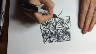 How To Doodle Paradox Tutorial (Zentangle, Pursuit Curve, Doodle, How To, Youtube)