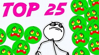 TOP 25 AGARIO MOMENTS // BEST OF SOLO & TEAM AGAR.IO