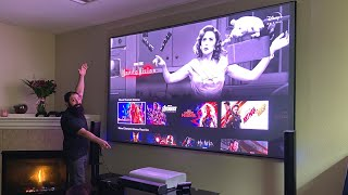 Samsung LSP9T Wife APPROVED 4K Projector!