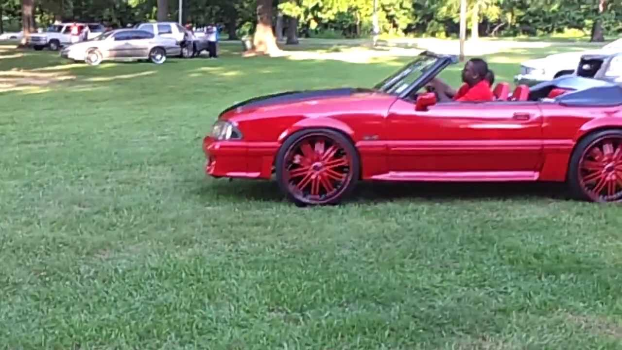 1988 1992 Red 5 0 Mustang Convertible On 22 S Youtube