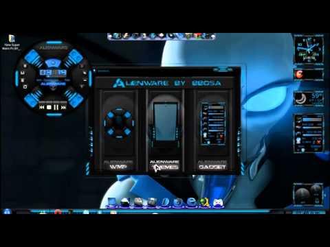 Tutorial De Descargar e Instalar El Mejor Tema Alienware Para Tu PC