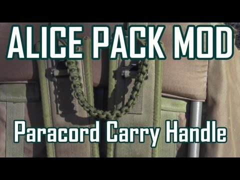 ALICE Pack Modification: Adding a Paracord Handle