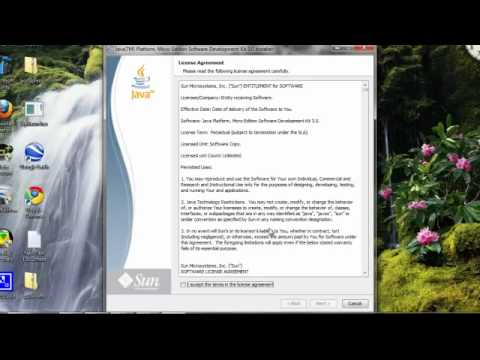 Part 1: Installation - Java Platform Micro Edition Software Development Kit 3.0 for Windows