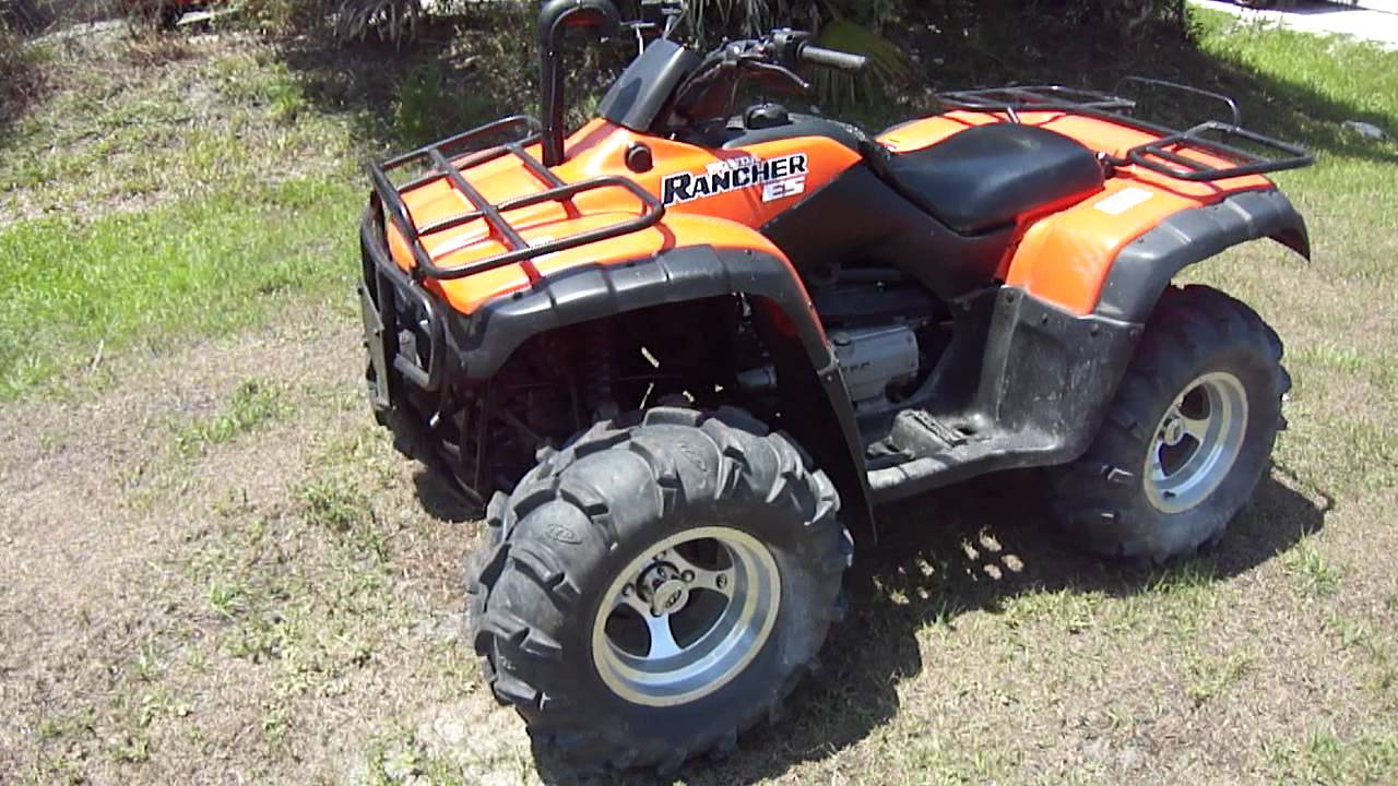 2003 Honda Rancher 350 4x4 Walk Around Youtube