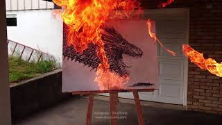 Drogon Flame revealing art