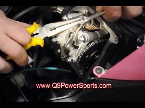 Adjust the Valves & Timing on a TaoTao 49cc Moped   Q9 PowerSports USA