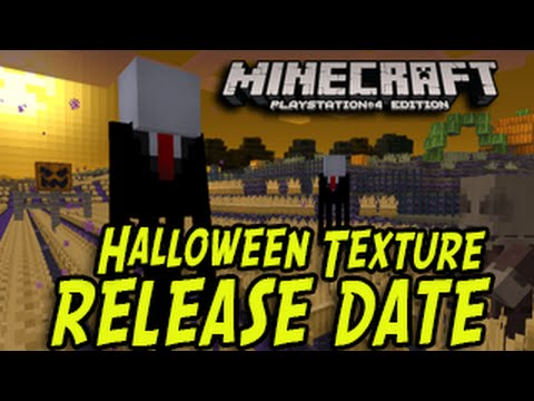 Minecraft PS4 PS3 FREE Halloween Texture Pack Release Date New