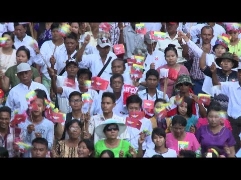 Thousands in Myanmar rally in support of military action