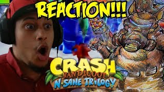 HAH! HOUGH! Crash Bandicoot N. Sane Trilogy Dingodile Boss Fight REACTION!!!