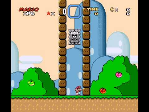 Kaizo Mario World - Kaizo Mario World Lives Glitch (Title Screen) - User video