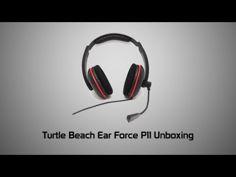 Turtle Beach Ear Force P11 for PS3 Unboxing + Audio Test