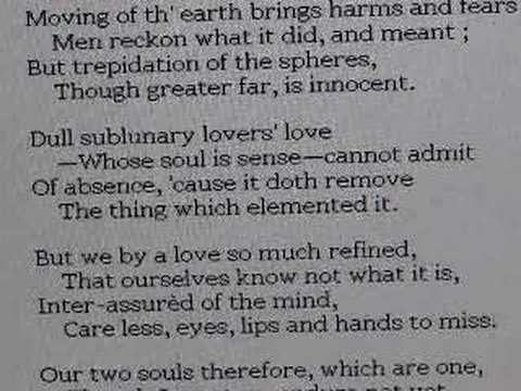 """forbidding mourning by john donne essay Written to his wife anne before john donne departed on a long tour of the  european continent, """"a valediction forbidding mourning"""" uses one of the most."""