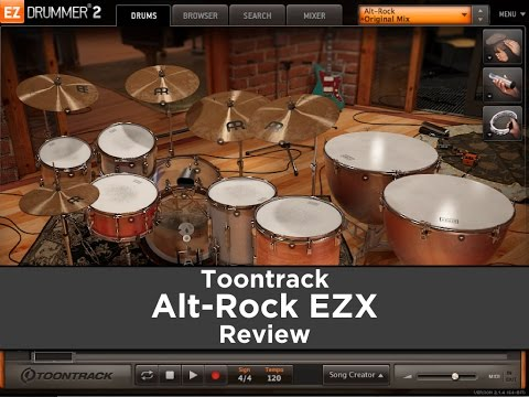 Toontrack Alt-Rock EZX - First Review (Samples, Presets, Mixing)