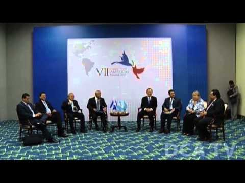 Presidentes del Triángulo Norte presentan Alianza para la Prosperidad a Ban Ki moon