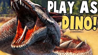 PLAY AS DINO IN ABERRATION! ALPHA BASALISK PVP HUNTING - Ark Aberration Modded Gameplay