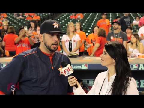 Oliver Pérez previo al juego de los Astros vs Kansas City