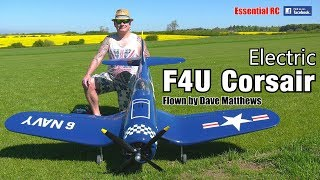 Electric RC F4U CORSAIR (Black Horse Warbird, 4 blade propellor, 12S lipo power system)